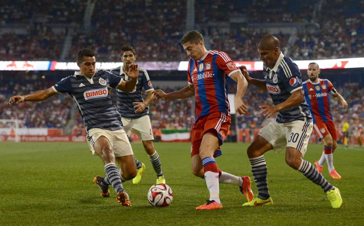 Carlos Salcido contra Bayern Münich Getty Images
