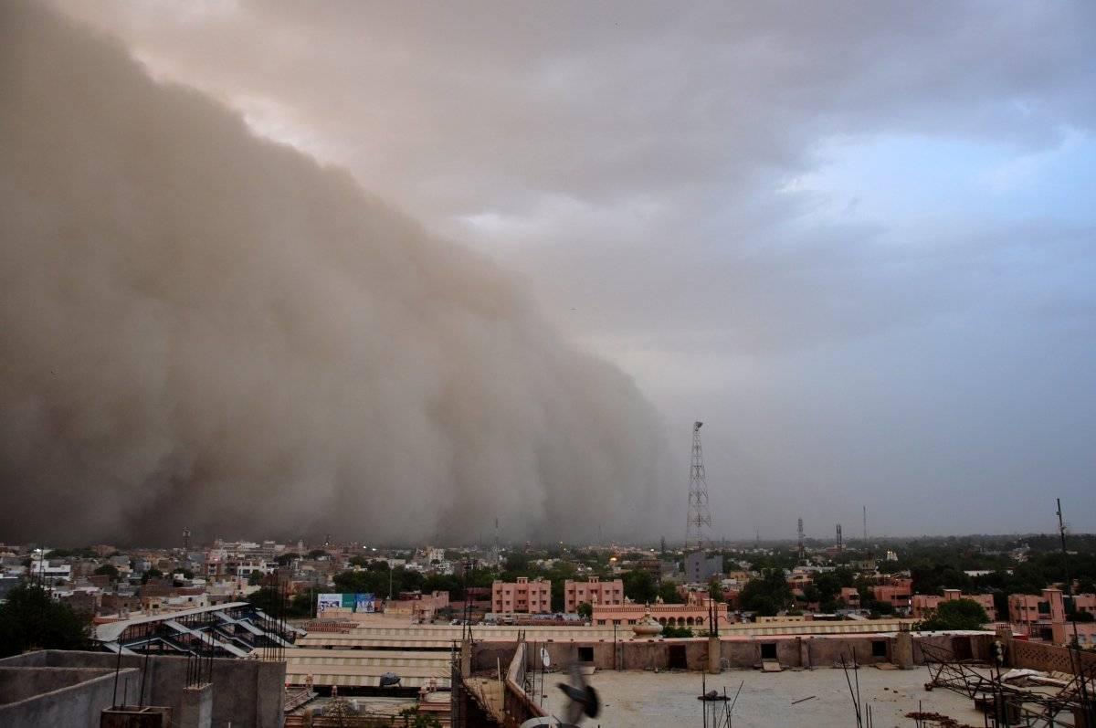 India (Tormenta de polvo) Foto: EFE