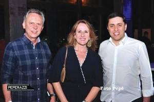 Carlos Magalhães, Maria Inês Altoé e Rogério Domingues (diretor Comercial e Marketing do Metro Brasil)