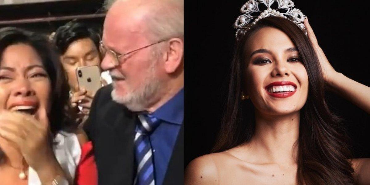 La conmovedora reacción de los padres de Miss Universo 2018 ante el triunfo de su hija