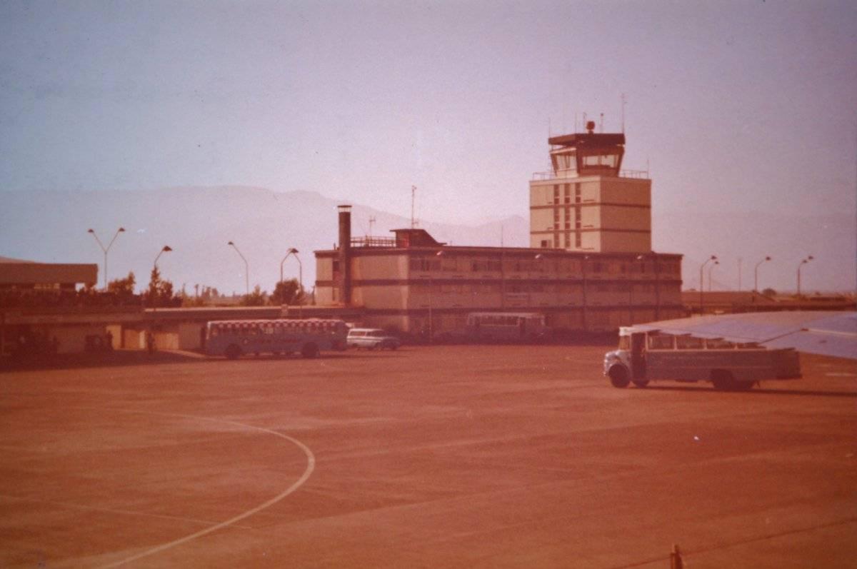 Aeropuerto de Santiago en 1970