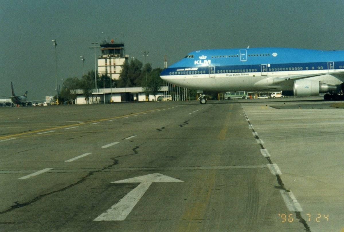Aeropuerto en 1996 / Gentileza MOP