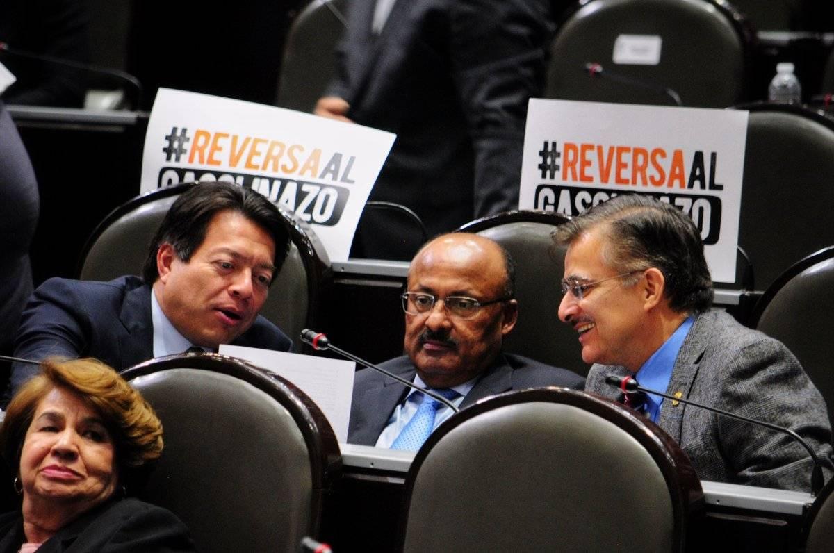 En la discusión del tema los diputados de oposición se enfrentaron. Foto: Cuartoscuro.