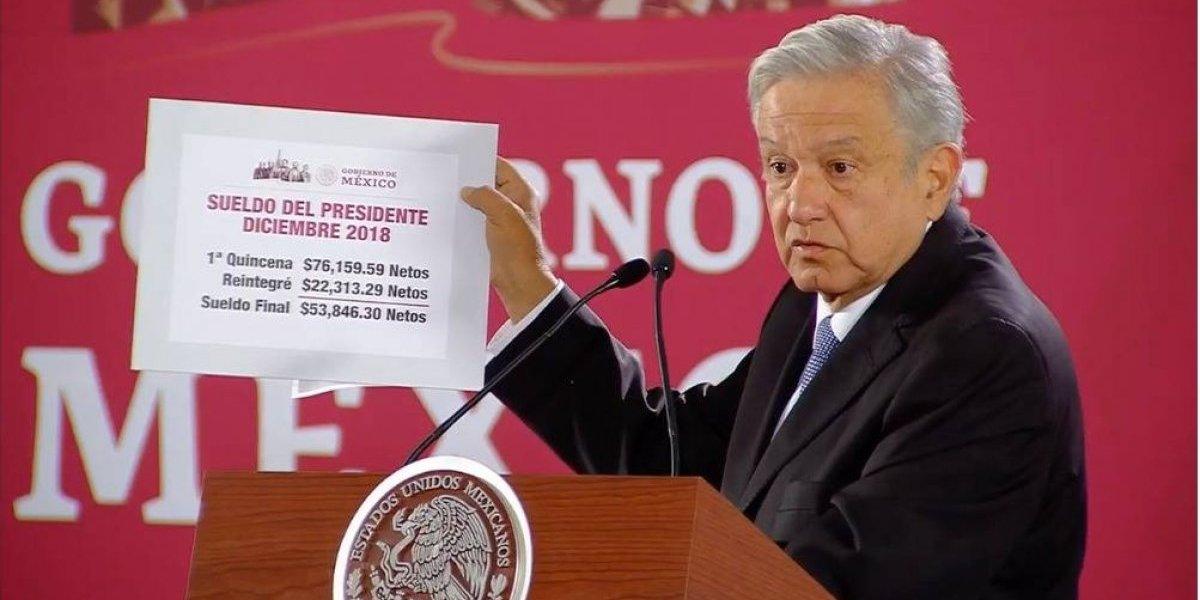 Da a conocer AMLO monto de su primera quincena como presidente