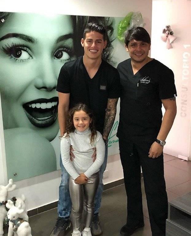 1. James en Colombia diciembre de 2018