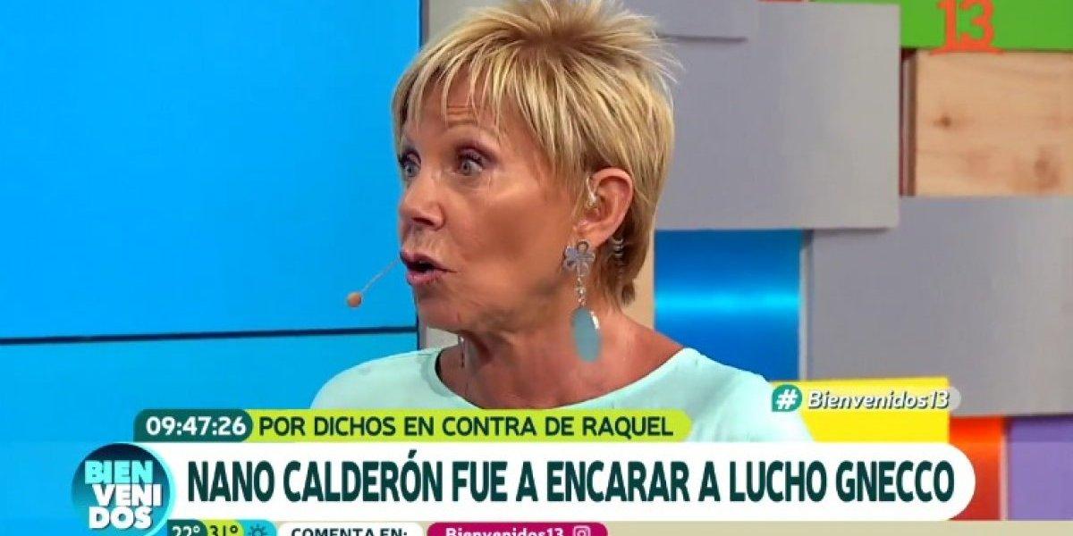 Raquel Argandoña celebró que su hijo Nano Calderón fuera a encarar a Luis Gnecco a su casa