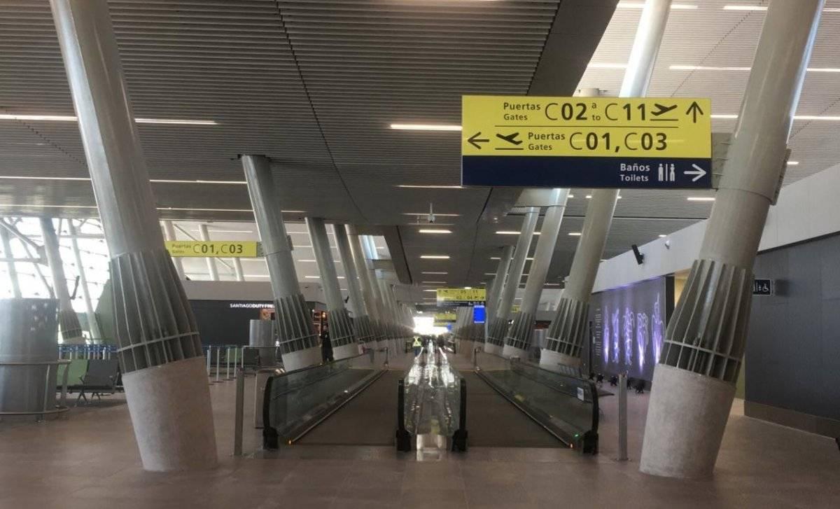 Así se ve la nueva zona del aeropuerto / Gentileza MTT