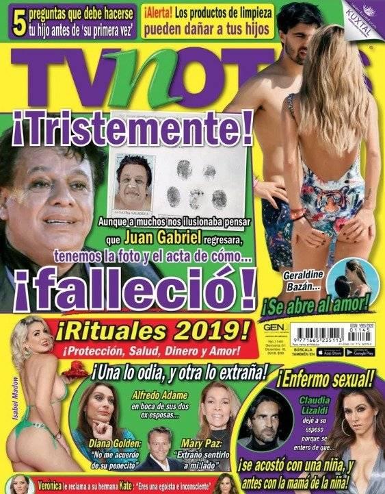 Imagen de la portada de la revista TV Notas