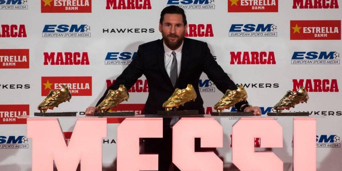 """Messi toma con humildad su quinta Bota de Oro como goleador europeo: """"Nunca imaginé todo esto"""""""