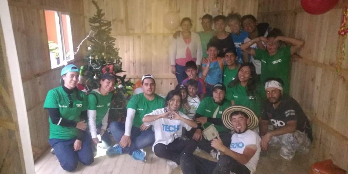 Publimetro, TECHO y MásBien alegraron la navidad de una familia
