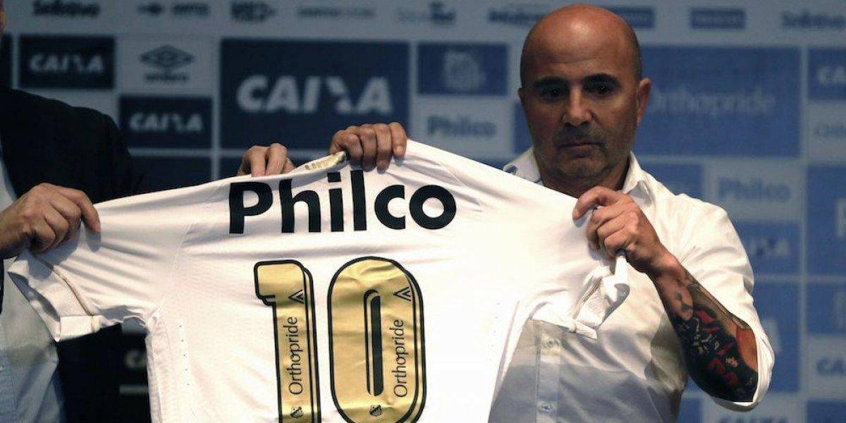 Santos de Brasil presenta a Jorge Sampaoli como nuevo entrenador