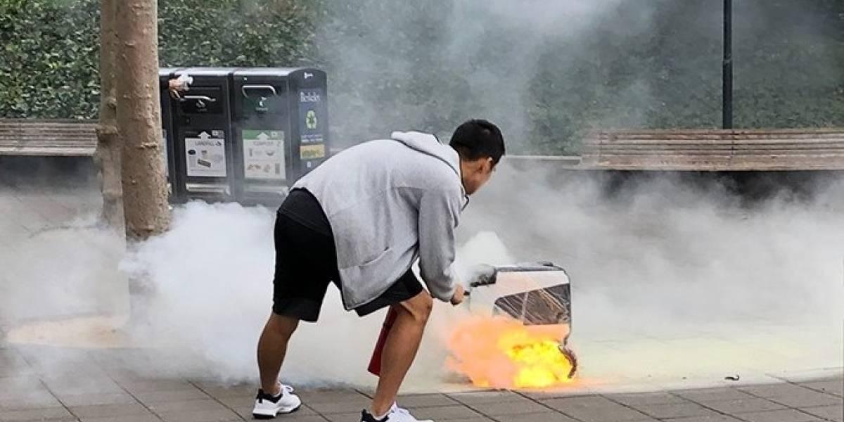 Un robot repartidor de la startup colombiana Kiwi se incendió en EE.UU.