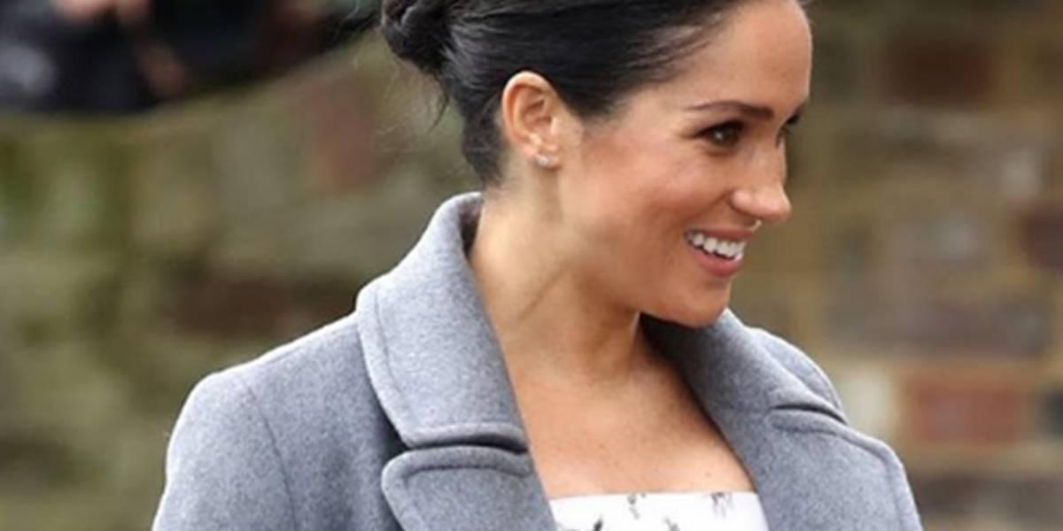 El romántico look con el que Meghan Markle lució su avanzado embarazo en nueva aparición