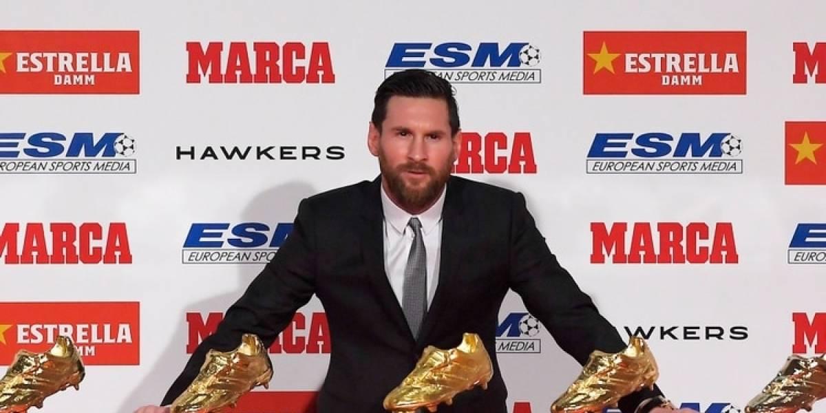 Lionel Messi recibió su quinta Bota de Oro y superó a Cristiano