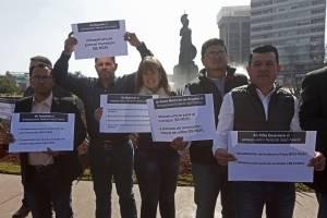 Se manifiestan alcaldes de Jalisco por la falta de recursos