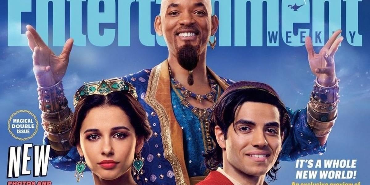"""Primer vistazo a Will Smith como """"El Genio"""" en la adaptación live-action de Aladdin"""