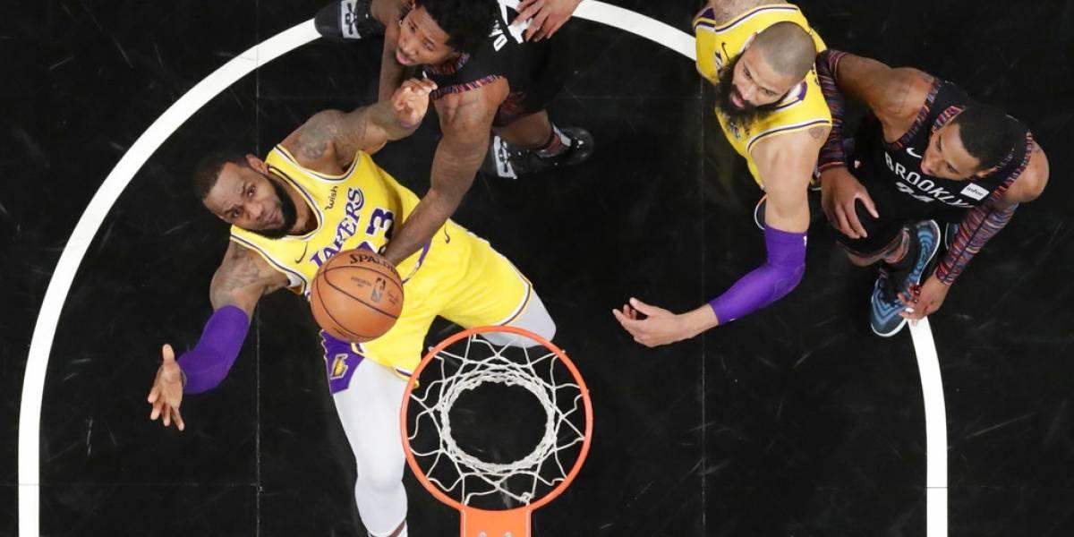 Nets son la sorpresa de la noche y vencen a los Lakers