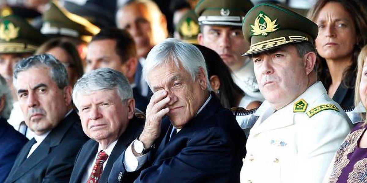 Piñera y Hermes Soto se vieron las caras en tensa ceremonia de graduación de Carabineros