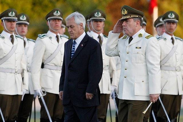Piñera junto a Hermes Soto