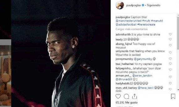 Manchester United sancionará a Paul Pogba por comentarios del despido de Mourinho