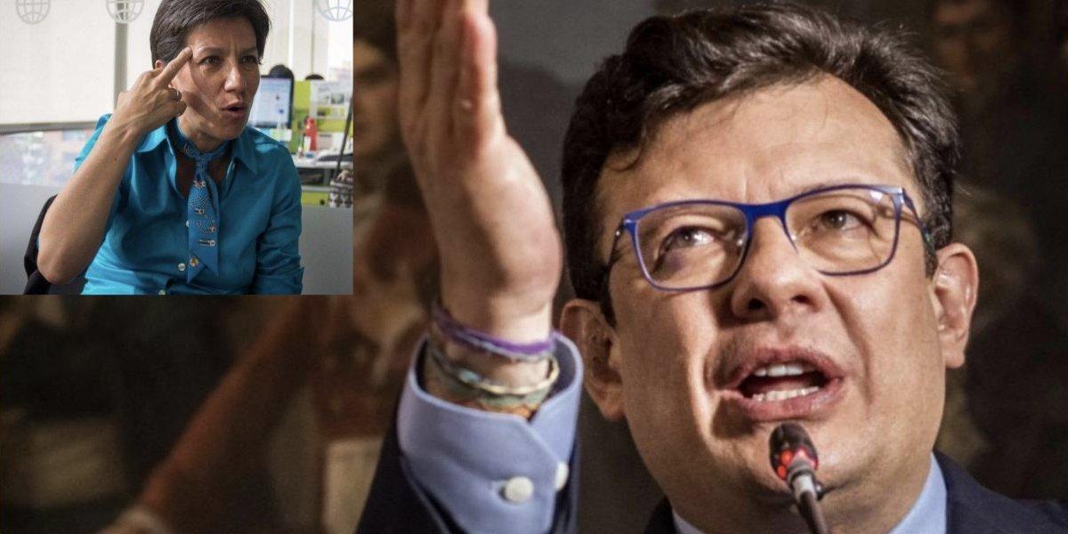 La respuesta de Claudia López al trino de Hollman Morris por la Alcaldía de Bogotá