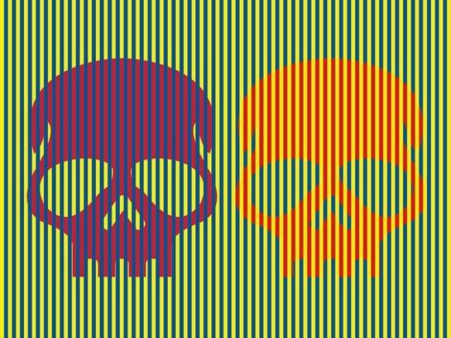 Esta ilusión óptica volará tu cabeza: ambas calaveras son del mismo color y engañan a tu cerebro