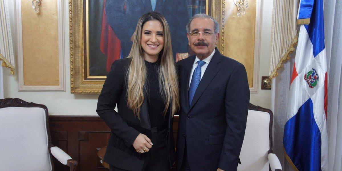 Nathalie Hazim habló con el presidente Danilo Medina sobre la clase artística