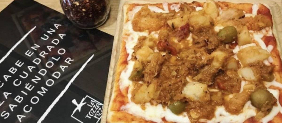 Esta temporada la pizza suma dos nuevos ingredientes: romeritos y bacalao