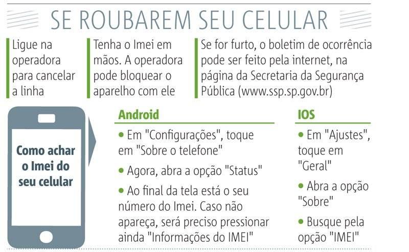 o que fazer se roubarem seu celular
