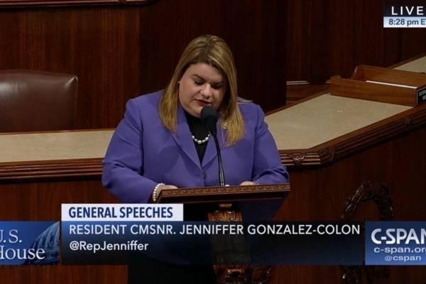 Jenniffer González pide apoyo a medida sobre crisis médica en Puerto Rico