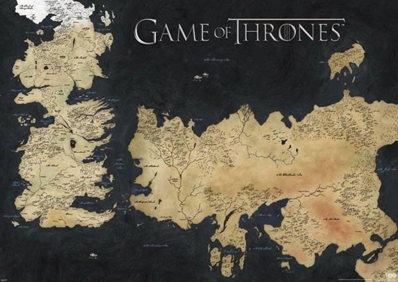 Mapa Westeros-Essos