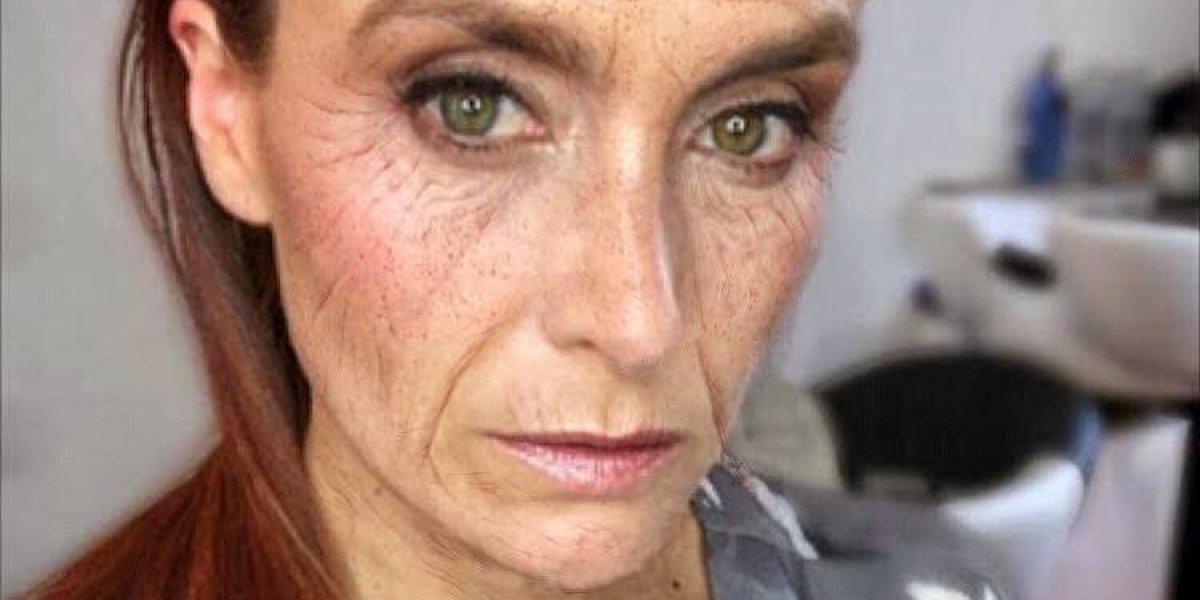 La increíble transformación de rostros de TV para campaña contra el cáncer de piel