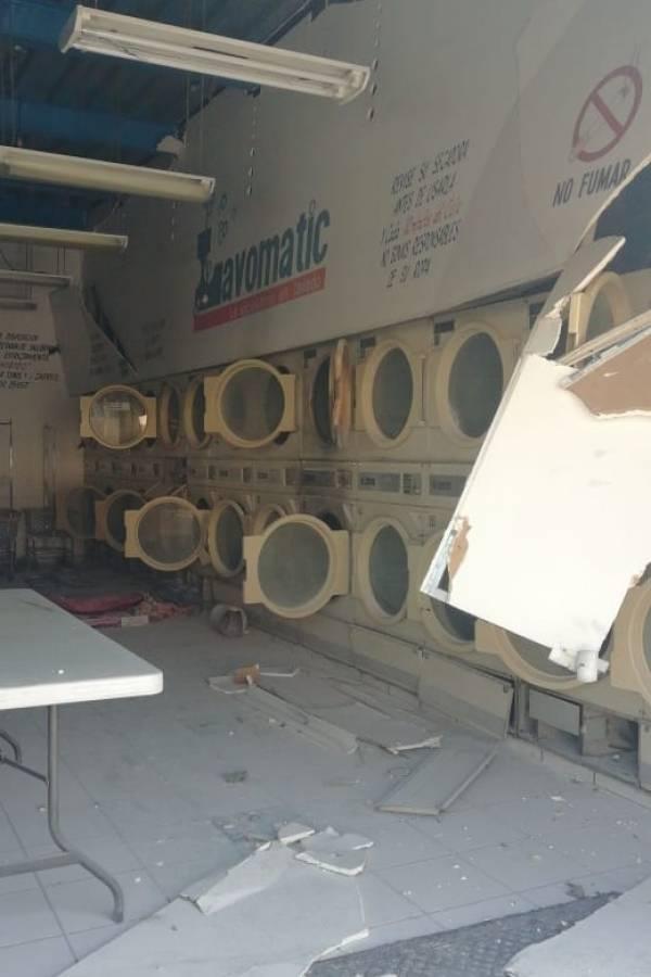 El percance ocurrió en una lavandería del barrio de San Andrés, al parecer provocado por una fuga de gas en una secadora; el percance ya es investigado