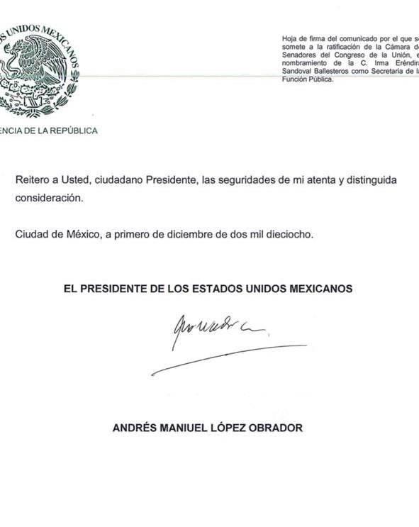 Firma de Andrés Manuel López Obrador