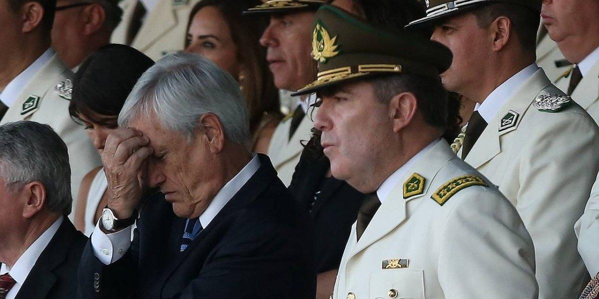 Piñera confirma la salida de Hermes Soto a Carabineros en medio de tenso ambiente: sacaron a 10 generales más