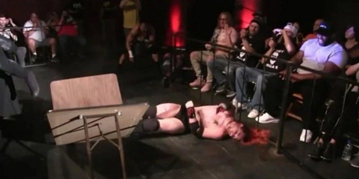 Luchador se rompe el cráneo tras un lanzamiento