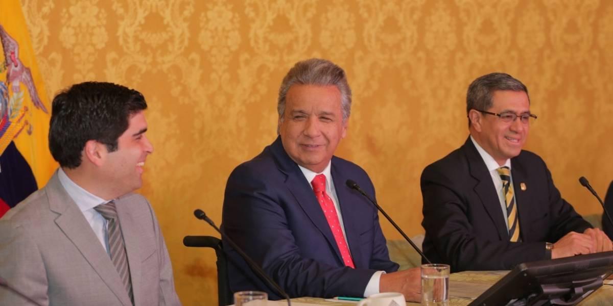 Lenín Moreno asigna funciones a vicepresidente Otto Sonnenholzner