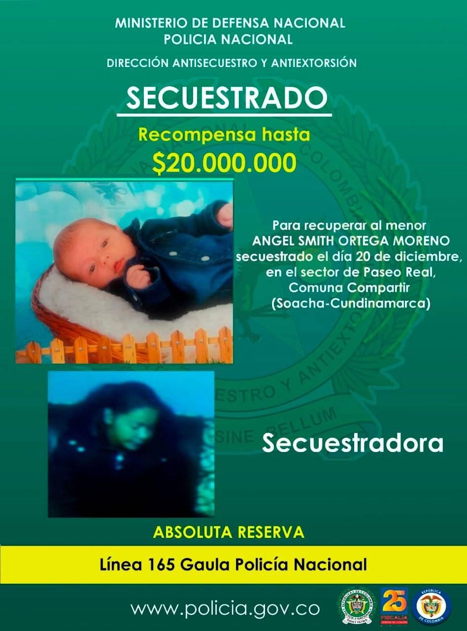 Secuestro de un bebé en Soacha