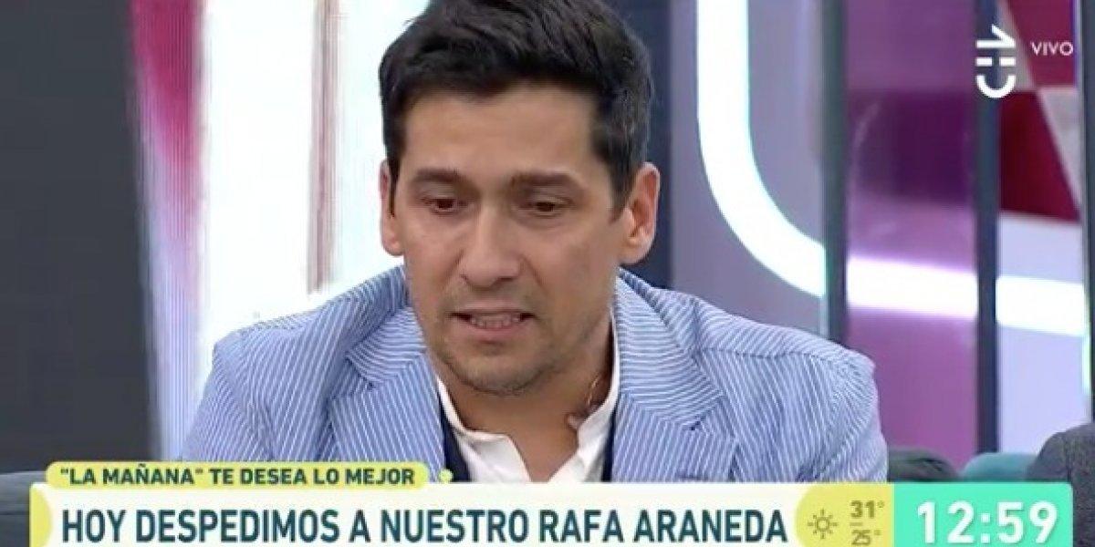 """La emotiva despedida de Rafael Araneda de """"La mañana"""" de CHV"""