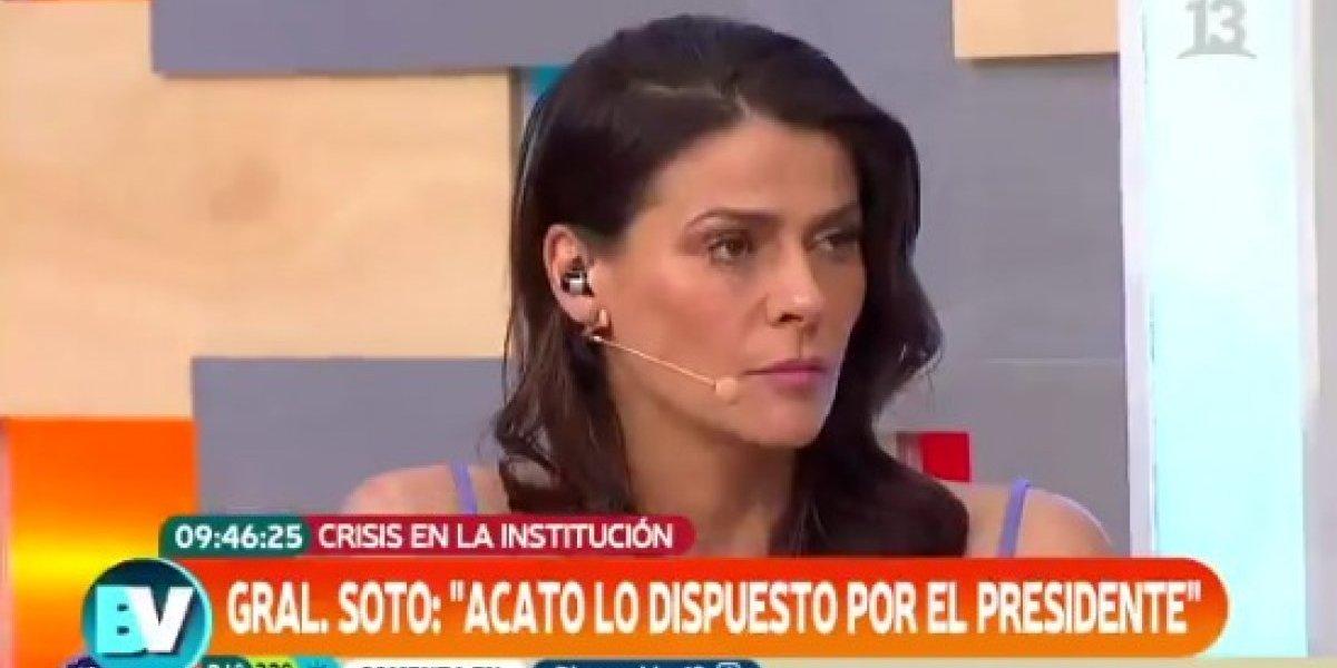 "Tonka Tomicic tras solicitud de renuncia a Hermes Soto: ""¿Quién va a querer ser Carabinero ahora?"""