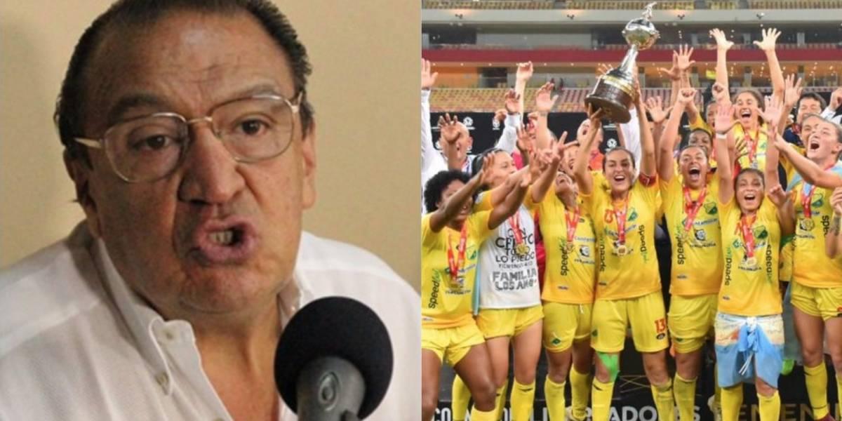 Reconocido periodista apoyó las ofensivas declaraciones de Gabriel Camargo contra las futbolistas
