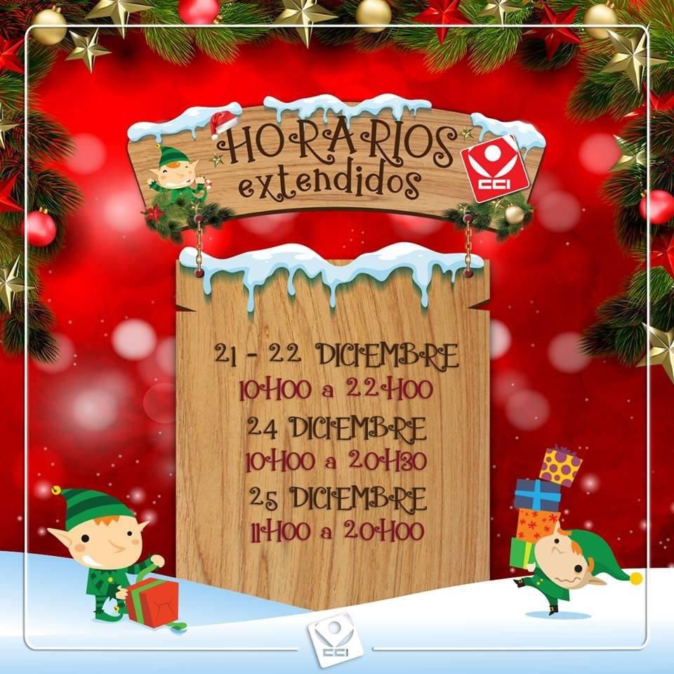 Horarios de atención CCI en Navidad, Quito