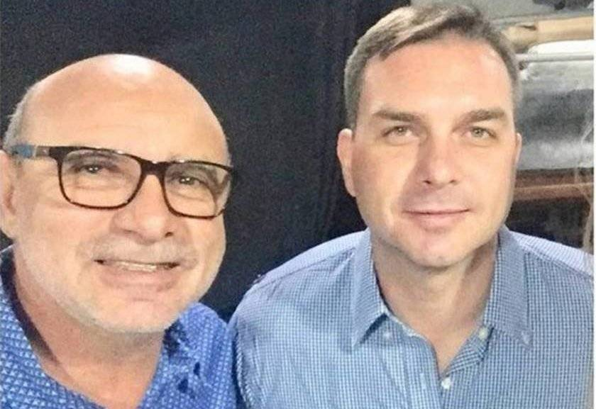 Fabrício José Carlos Queiroz e Flávio Bolsonaro