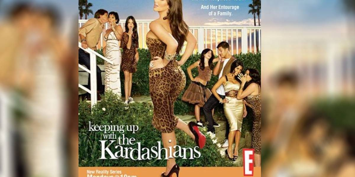 Así se veía Kim Kardashian en el primer poster de 'Keeping up with the Kardashians'