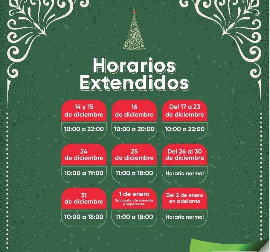 Horarios de Atención Navidad, San Luis Shopping