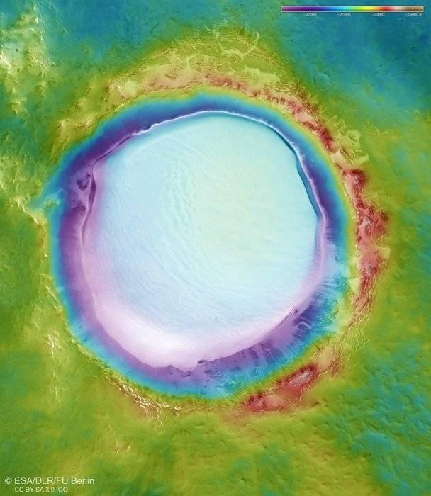 crater marte