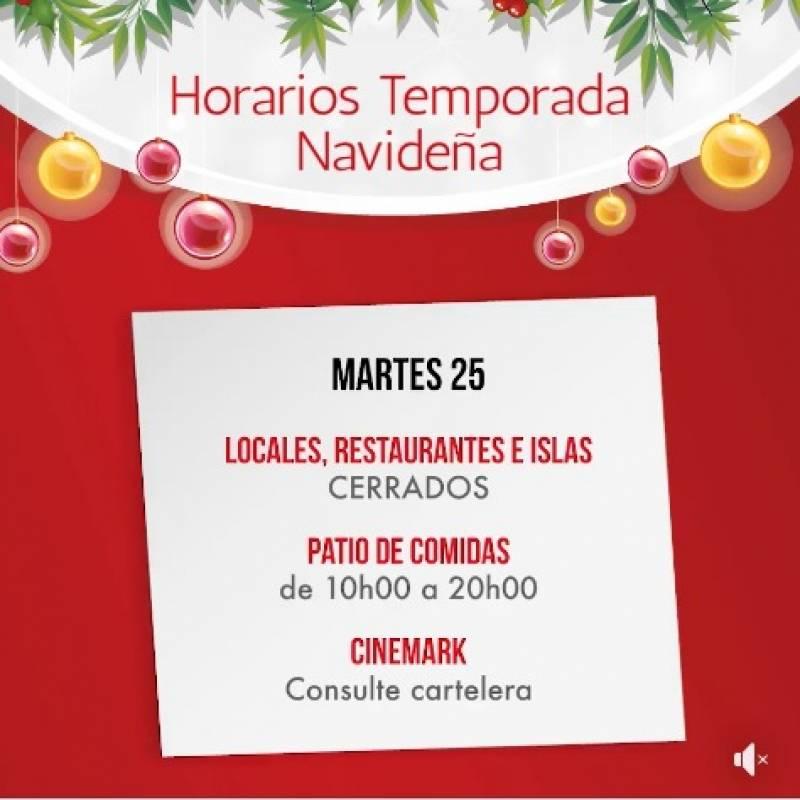 Horarios de Atención Navidad, Village Plaza Facebook