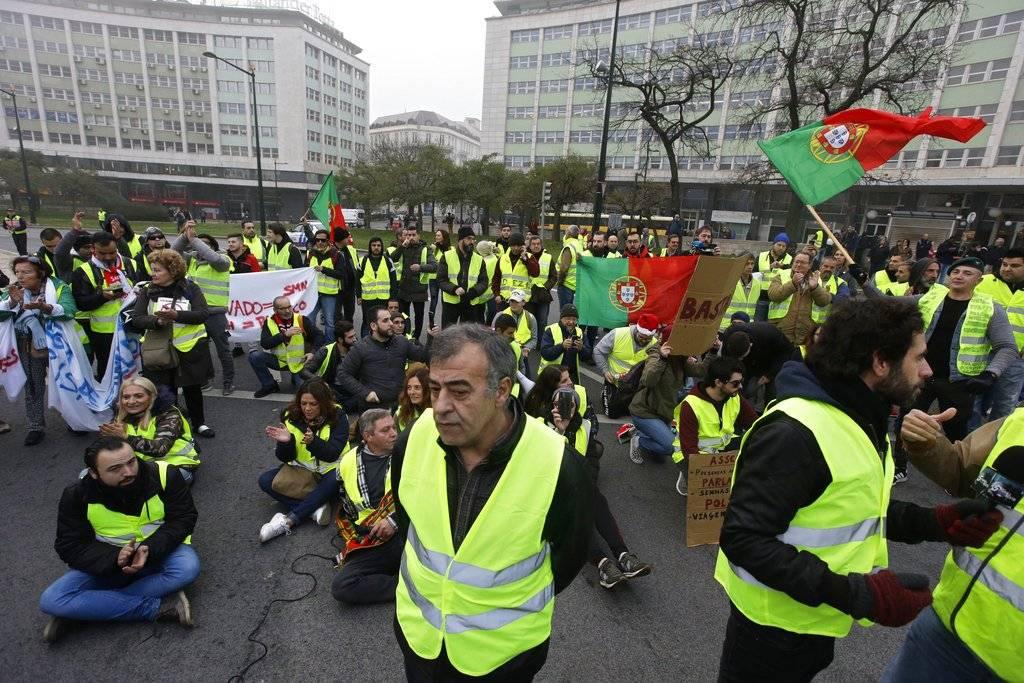 Protestas de los chalecos amarillos en Portugal