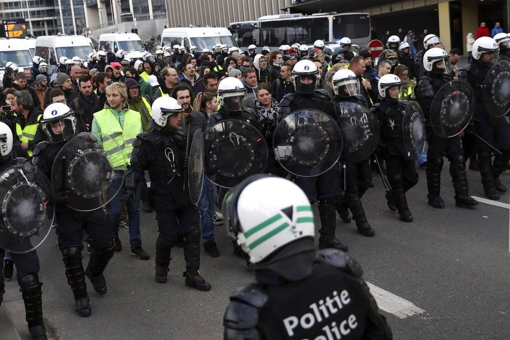 Protestas de los chalecos amarillos en Bélgica