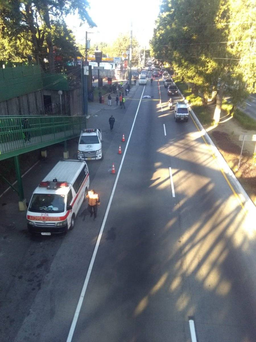 Persona atropellada en San Lucas Sacatepéquez